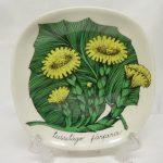 Arabia Botanica koristelautanen, Leskenlehti, suunnittelija , Leskenlehti, pieni, serikuva