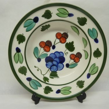 Arabia Palermo lautanen, suunnittelija Dorrit von Fieandt, syvä, käsinmaalattu, signeerattu