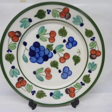Arabia Palermo lautanen, suunnittelija Dorrit von Fieandt, matala, käsinmaalattu, signeerattu kuva 2