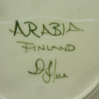 Arabia Palermo lautanen, suunnittelija Dorrit von Fieandt, matala, käsinmaalattu, signeerattu kuva 3