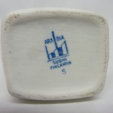 Arabia Luumu maustepurkki, Mantelia, suunnittelija Thure Öberg, Mantelia, pieni, puhalluskoriste kuva 2