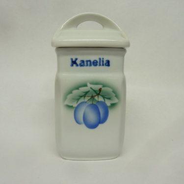 Arabia Luumu maustepurkki, Kanelia, suunnittelija Thure Öberg, Kanelia, pieni, puhalluskoriste