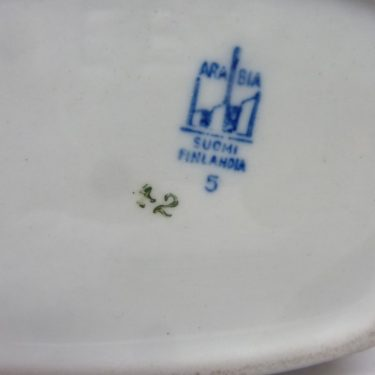 Arabia Luumu rice jar, designer Thure Öberg, silk screening, 2