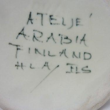 Arabia Kukka maljakko, suunnittelija Hilkka-Liisa Ahola, käsinmaalattu, signeerattu kuva 2