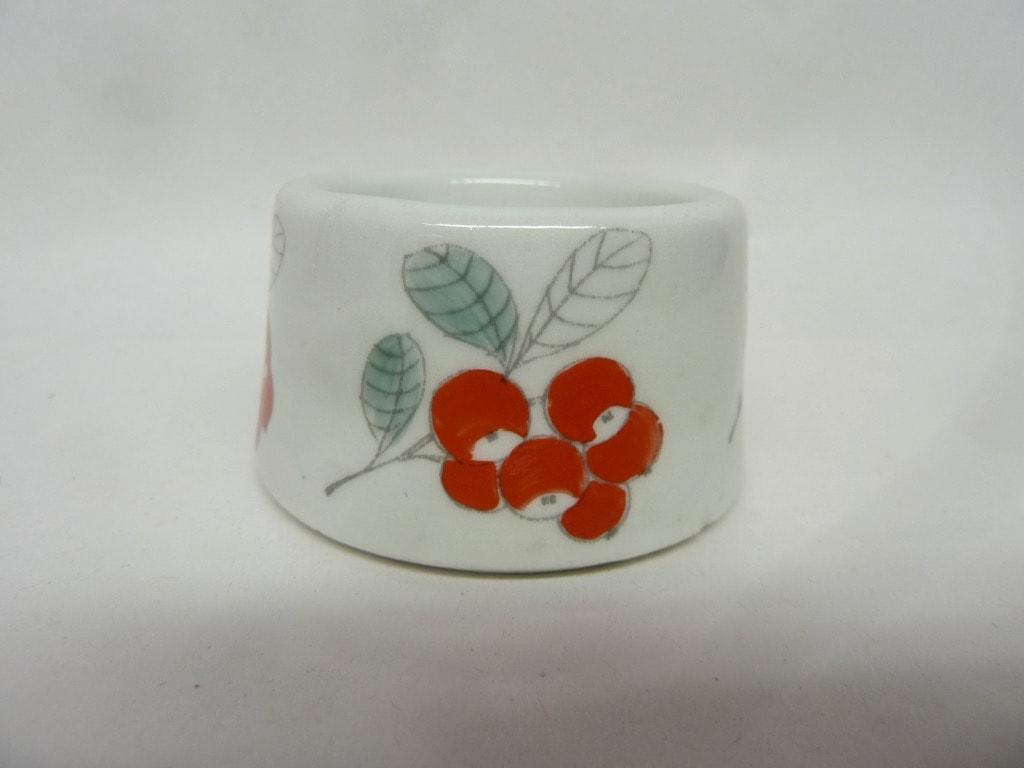 Arabia Puolukka egg cup, hand-painted