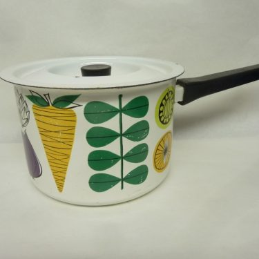 Finel Vegeta saucepan, designer Esteri Tomula, 2 l, silk screening, vegetables theme