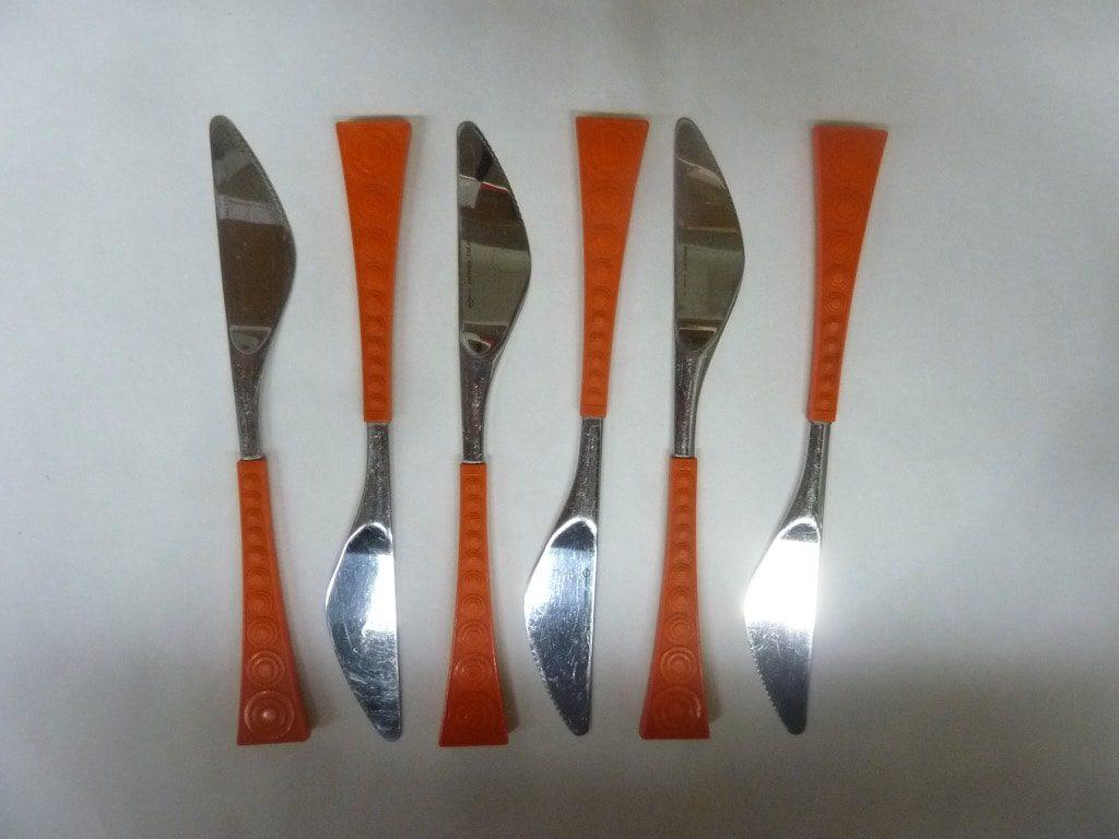 Hackman Colorina veitset, oranssi, 6 kpl, suunnittelija Nanny Still,