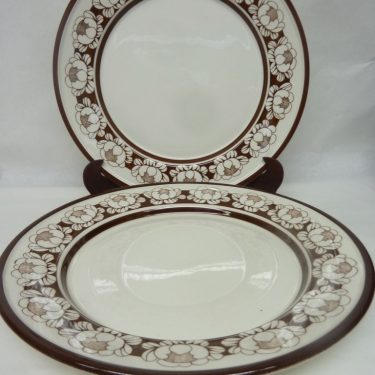 Arabia Katrilli dinner plates, 2 pcs, designer Ulla Procope, silk screening