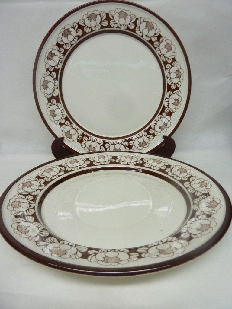 Arabia Katrilli lautaset, matala, 2 kpl, suunnittelija Ulla Procope, matala, serikuva