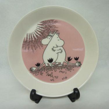 Arabia Muumi lautanen, Rakkaus, suunnittelija , Rakkaus, serikuva, käyttämätön, kaksipuoleinen kuva