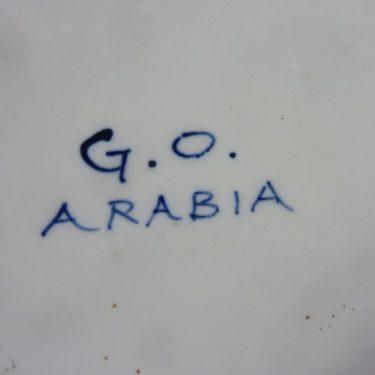 Arabia Haarikka muki, suunnittelija , 50 cl, käsinmaalattu, signeerattu kuva 2
