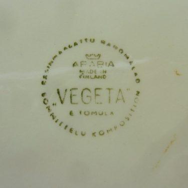 Arabia Vegeta kulho, matala, suunnittelija Esteri Tomula, matala, käsinmaalattu, vihannesaihe kuva 2