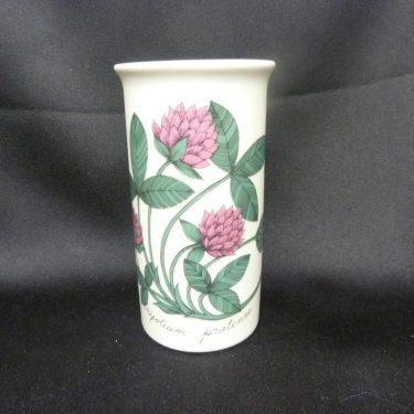 Arabia Botanica maljakko, Puna-Apila, suunnittelija Esteri Tomula, Puna-Apila, serikuva, kukka-aihe