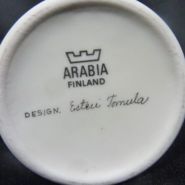 Arabia Botanica maljakko, Puna-Apila, suunnittelija Esteri Tomula, Puna-Apila, serikuva, kukka-aihe kuva 2