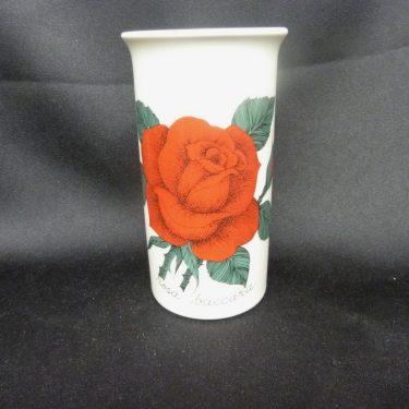 Arabia Botanica maljakko, Rosa Baccara, suunnittelija Esteri Tomula, Rosa Baccara, serikuva, kukka-aihe
