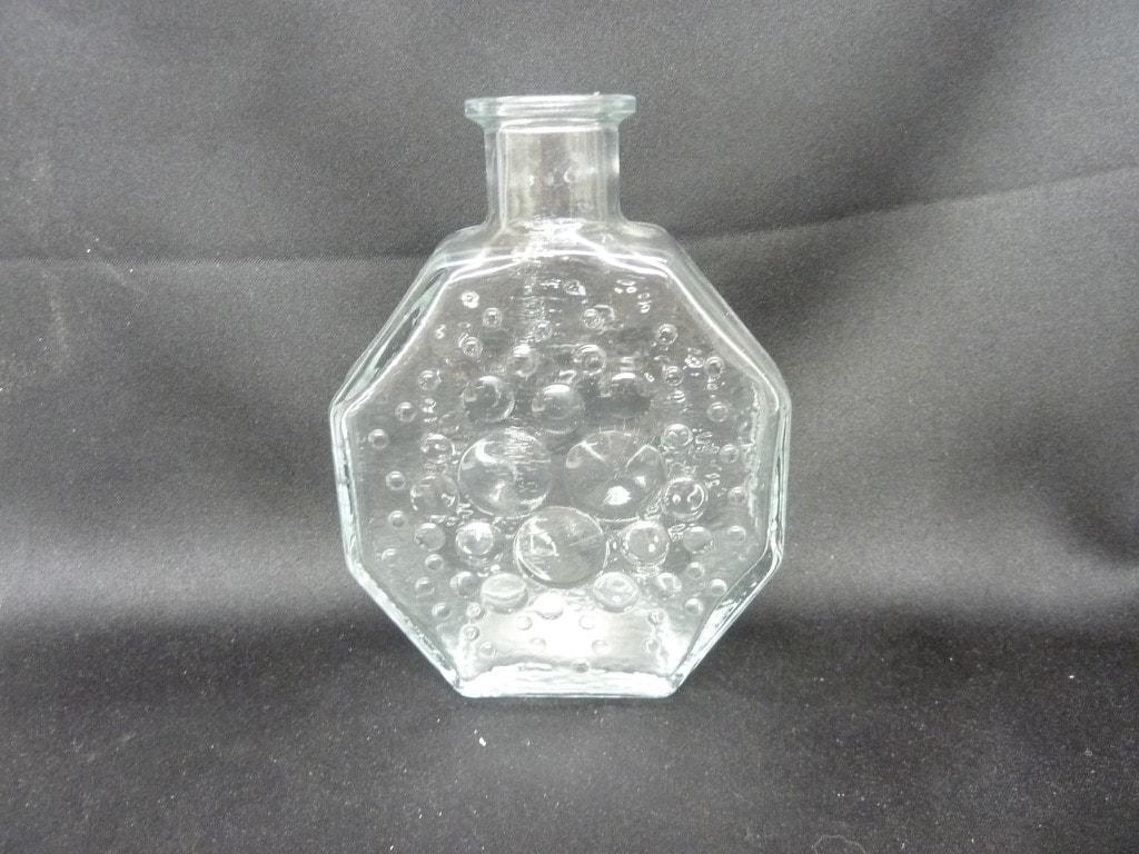 Riihimäen lasi Stella Polaris koristepullo, kirkas, suunnittelija Nanny Still, pieni
