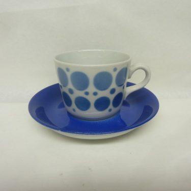 Arabia retro kahvikuppi, sininen, suunnittelija , puhalluskoriste