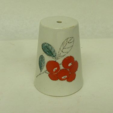 Arabia Marja shaker, designer Esteri Tomula, small, hand-painted, without plub