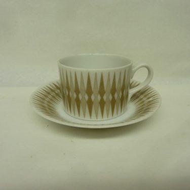 Arabia Revontuli espressokuppi, harmaa, suunnittelija Raija Uosikkinen, pieni