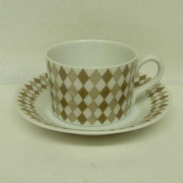 Arabia Pajazzo espressokuppi, harmaa, suunnittelija Raija Uosikkinen, pieni