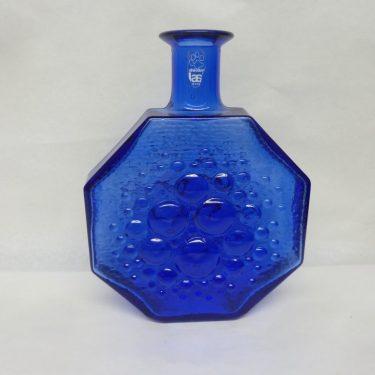 Riihimäen lasi Stella Polaris koristepullo, tummansininen, suunnittelija Nanny Still,