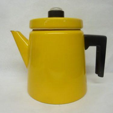 Finel Pehtoori kahvipannu, suunnittelija Antti Nurmesniemi, 2 l, keltainen