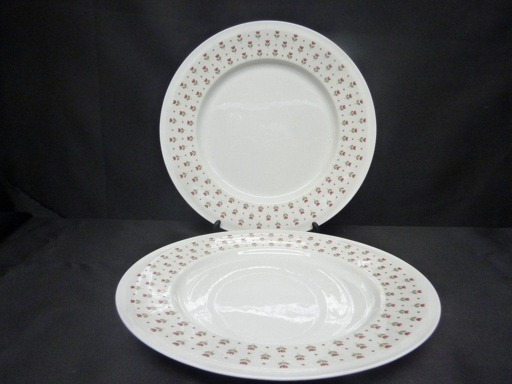 Arabia Miniflora lautaset, matala, 2 kpl, suunnittelija Esteri Tomula, matala, serikuva, kukka-aihe