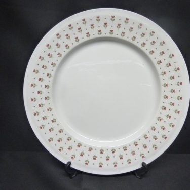Arabia Miniflora dinner plates, designer Esteri Tomula, silk screening, flower theme