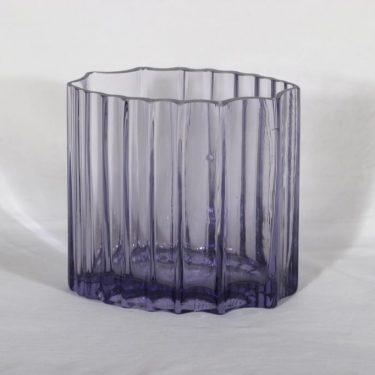 Riihimäen lasi maljakko, lila, suunnittelija ,