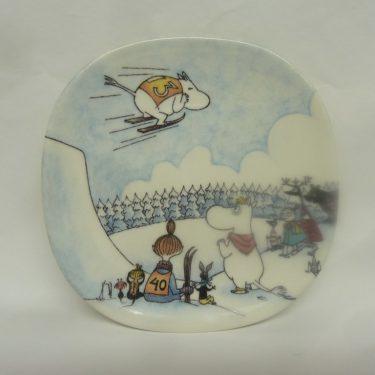 Arabia Muumi wall plate, Hyppymäessä, designer Tove Jansson, Tove Slotte, small, silk screening, muumi theme