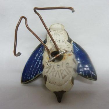 Arabia figuuri, Mehiläinen, suunnittelija Taisto Kaasinen, Mehiläinen, pieni, käsinmaalattu, signeerattu kuva 3