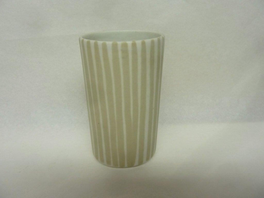 Arabia maljakko, suunnittelija Taisto Kaasinen, pieni, käsinmaalattu