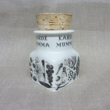 Arabia maustekuva maustepurkki, Kardemumma, suunnittelija Esteri Tomula, Kardemumma, serikuva