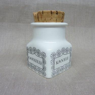 Arabia maustekuva maustepurkki, Kaneli, suunnittelija Esteri Tomula, Kaneli, serikuva
