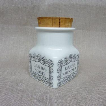 Arabia spice jar, cardamom, designer Esteri Tomula, silk screening