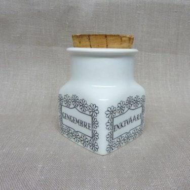 Arabia spice jar, ginger, designer Esteri Tomula, silk screening