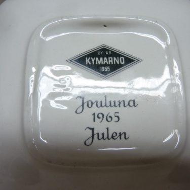 Arabia koristelautanen, Tilaustyö, suunnittelija Raija Uosikkinen, Tilaustyö, pieni, serikuva, tilaustyö Kymarno Oy:lle jouluna 1965 kuva 2
