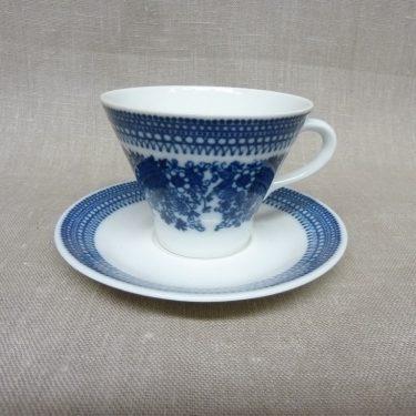 Arabia Elisabet kahvikuppi, sininen, suunnittelija Raija Uosikkinen, serikuva