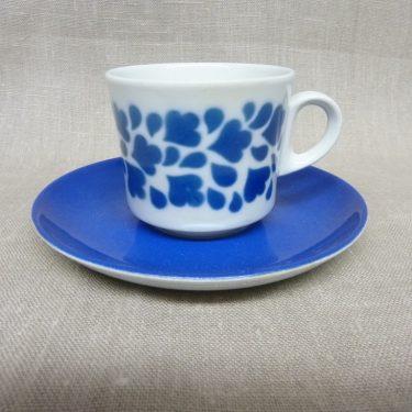 Arabia Varpu kahvikuppi, sininen, suunnittelija , retro, puhalluskoriste