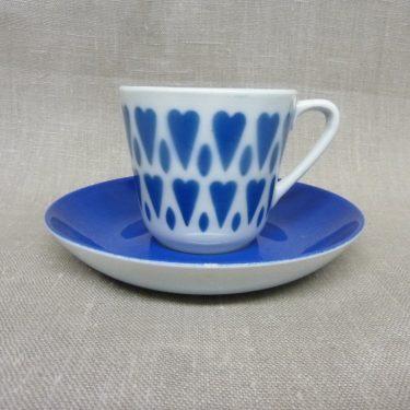 Arabia Sydän kahvikuppi, sininen, suunnittelija , retro, puhalluskoriste
