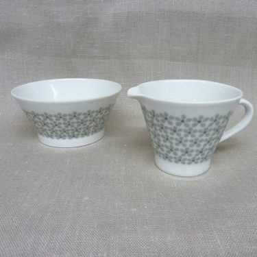 Arabia Lemmikki sugar bowl and creamer, Raija Uosikkinen