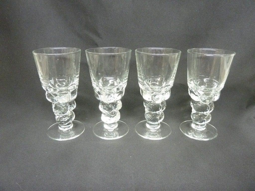 Nuutajärvi Mukura / Paratiisi glass, 10 cl, 4 pcs, Oiva Toikka