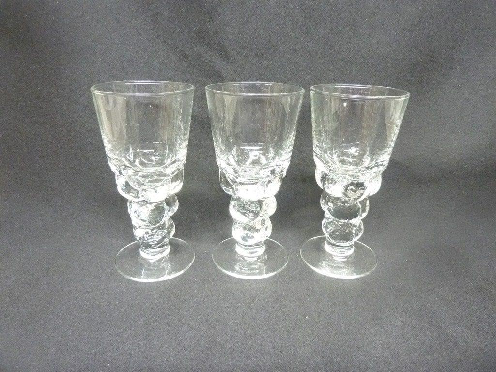 Nuutajärvi Mukura / Paratiisi glass, 10 cl, 3 pcs, Oiva Toikka