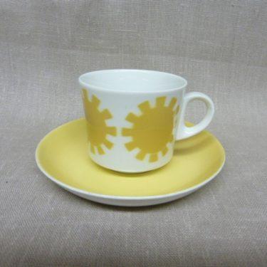 Arabia Ratas kahvikuppi, keltainen, suunnittelija , puhalluskoriste, retro