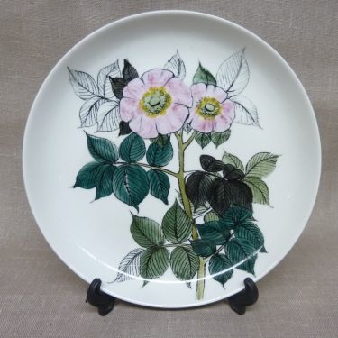 Arabia decorative plate, designer Hilkka-Liisa Ahola, hand-painted, signed