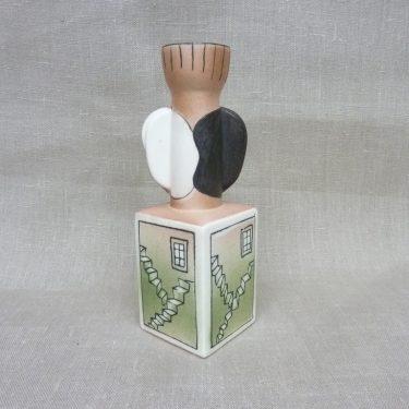 Arabia kynttilänjalka, suunnittelija Heljä Liukko-Sundström, käsinmaalattu, numeroitu