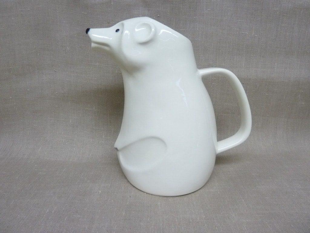 Arabia RL kaadin, suunnittelija Richard Lindh, 1.4 l, valkoinen, jääkarhuaihe