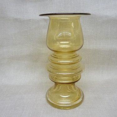 Riihimäen lasi Tornado maljakko, amber, suunnittelija Tamara Aladin, suuri