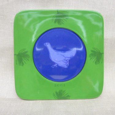 Arabia Flora Fauna annual plate 2001, designer Eeva Sivula, Pekka Toivanen, silk screening