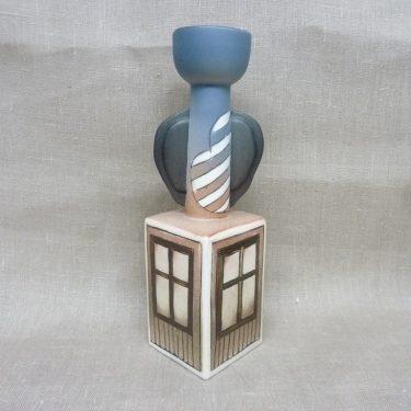 Arabia candlestick, sedigner Heljä Liukko-Sundström, hand-painted, numbered